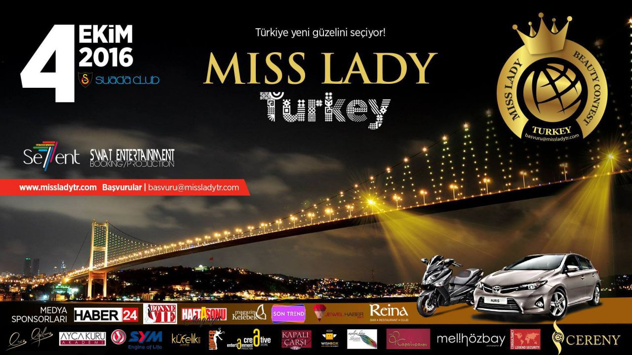 MISS LADY TURKEY 4 EKİM'DE