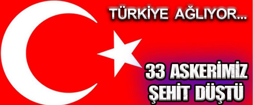 İDLİB'DE 33 ASKERİMİZ ŞEHİT DÜŞTÜ !